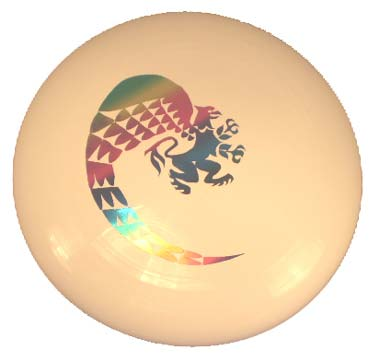 Frisbee White With Rainbow Griffin Logo (SKU 1033352529)