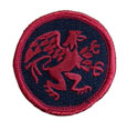 "Griffin Patch Embroidered 2"" Round"