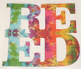 Decal Tye Dyed Reed Cut Out Vinyl 4.5""