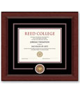6-Diploma Frame Circle Logo Black And Maroon Mats