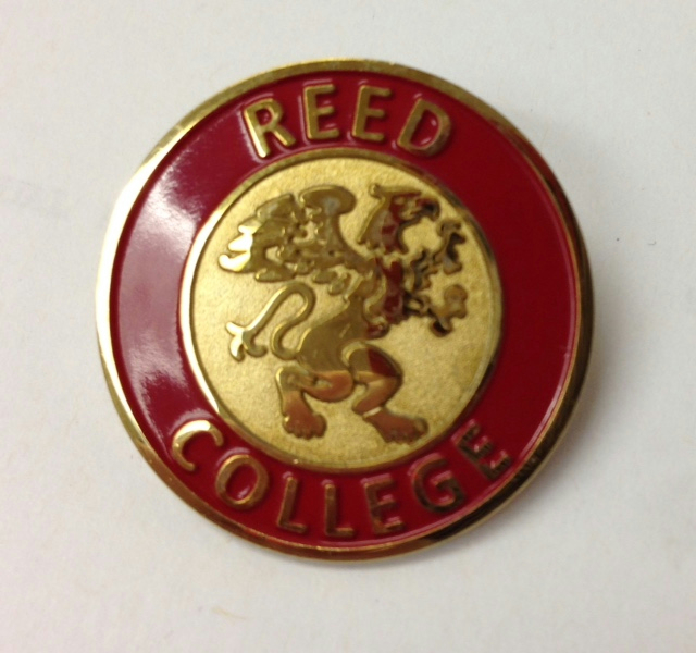 Pin Reed College W/Griffin Gold Plate Enamel 1