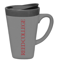 Mug Ceramic with Lid Soft Touch Reed College