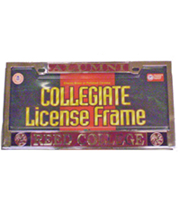 Alumni License Plate Frame Polished Chrome