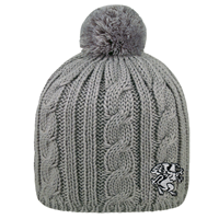 Cable Knit Beanie with Pompom