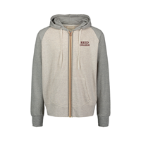 Full Zip Reed Embroidered Oatmeal