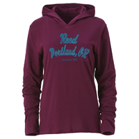 Long-Sleeved Tee with Hood Reed College Portland