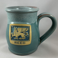 Tall Belly Mug with Woodcut Griffin