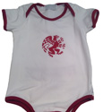 Onesie White With Maroon*18Mon 95% Cotton 5% Spand